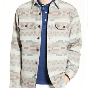 Quilt Lined Wool Shirt Jacket Pino Trail Neutral